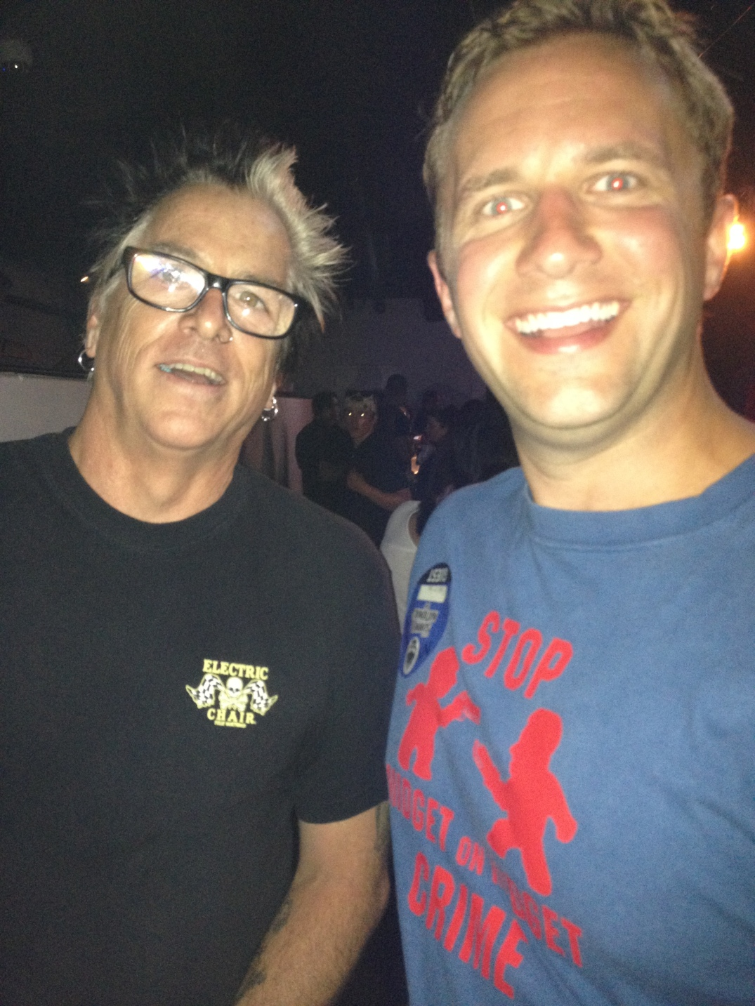 I met Noodles outside of Niagra bar on the LES a few years ago. Couldn't have been nicer, huge comedy fan. Every time the Offspring come to town, I check them out and usually get to have a beer with him. They say don't meet your heroes because you'll be disappointed. Not in this case, he's one of the nicest celebs I've ever met