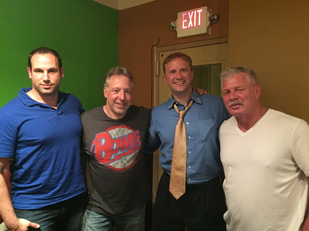 Jeffrey Paul and myself created the podcast and who was our first guest? Lenny Dykstra, fresh off of his book release. From left-right: Tom Borowski, Jeff Paul, Kevin, and Lenny Dysktra